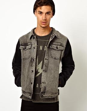 Veste en jean à manches contrastantes Afends (taille S seulement)