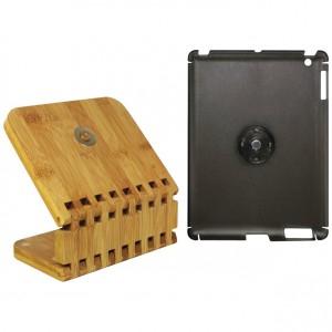 Macally Ecostand - Coque de protection + support en bambou pour iPad 2