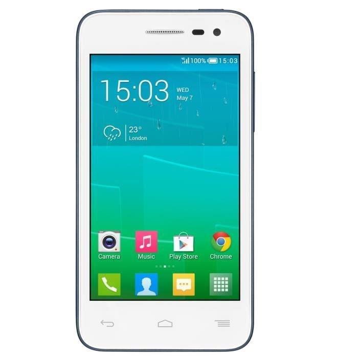 Smartphone Alcatel One Touch Pop S3 blanc & bleu 4G (Avec ODR de 30€)
