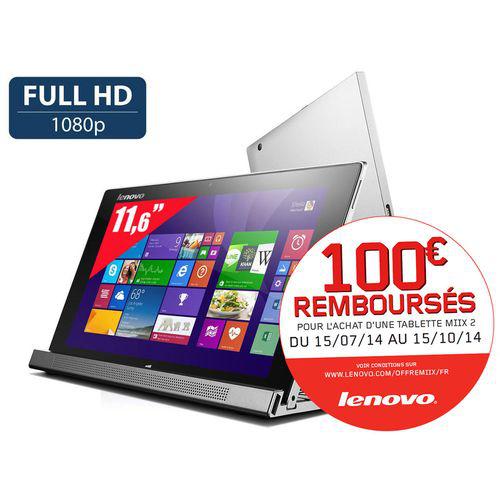 Tablette hybride Lenovo Miix 2 11 - 11,6'' Full HD, i3 - SSD 128 Go, RAM 2Go - Win 8.1 (100€ ODR)
