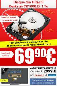 "Disque dur interne 3,5"" 1 To Hitachi Deskstar 7K1000.D"