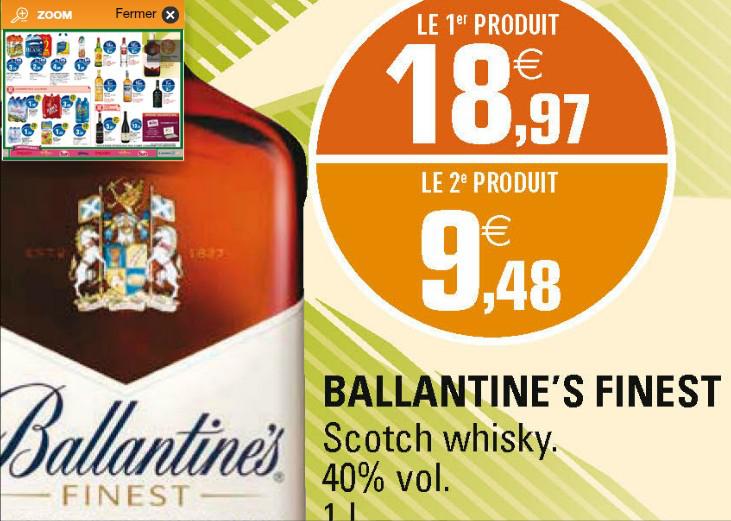 2 bouteilles de Whisky Ballantine's Finest