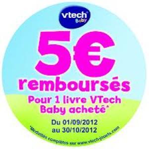 Livre VTech Baby (avec ODR de 5€)