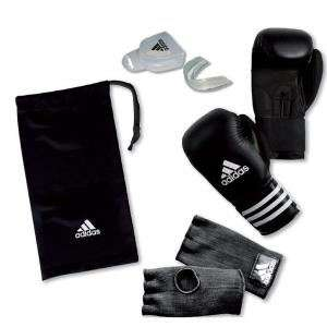 Gants de boxe + Mitaines + Protège-dents Adidas taille 10 Oz