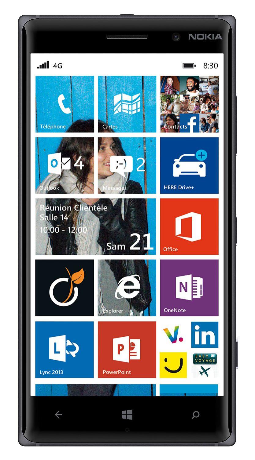 Smartphone Nokia Lumia 830 Noir en location sur 24 mois, par mois