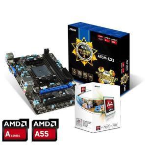 Kit processeur AMD A4 4000K + carte mère  MSI A55M-E33