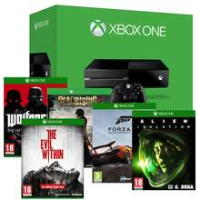 Console Xbox One + 5 jeux