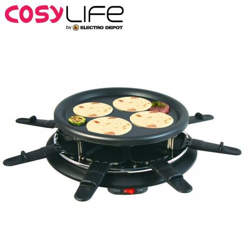 Raclette 8 personnes + grill / 4 crèpes