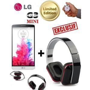 Smartphone LG G3S Blanc + Casque design