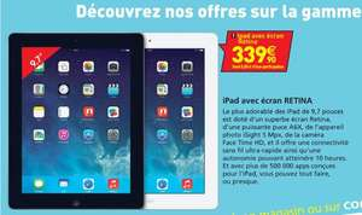 "Tablette 9.7"" Apple iPad 16Go (Retina) - Noir"