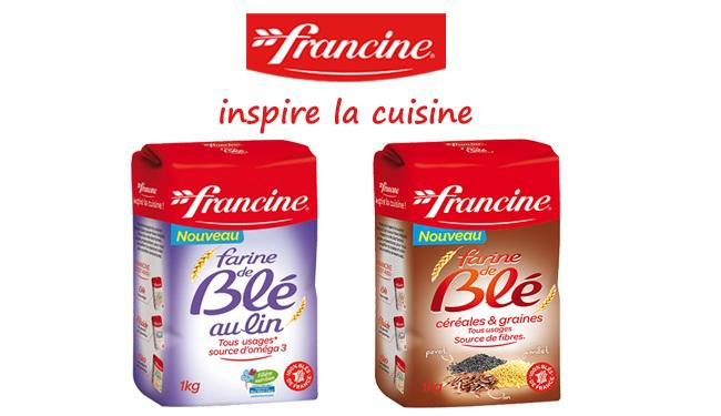 Farine Francine 1kg suprême, lin ou céréales graines gratuit (au lieu de 1.65€ - avec 50% sur la carte fidélité)