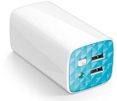 Batterie externe portable TP-Link TL-PB10400  10400mAh (2 ports USB, Lampe LED)