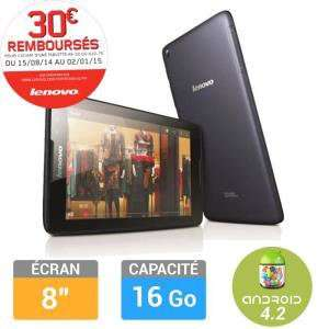 """Tablette Lenovo IdeaTab A8/8121 8"""" 16Go (avec ODR 30€) + 20€ en bon d'achat"""