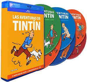 Coffret 8 Blu Ray Tintin : l'intégrale de l'animation - 21 aventures