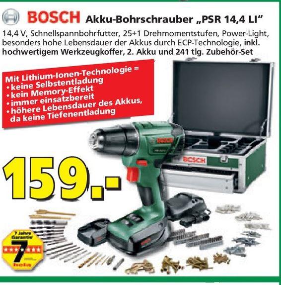 Perceuse visseuse Bosch PSR 14.4 LI avec coffret