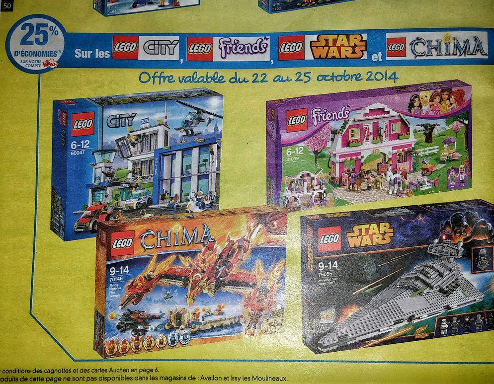 -25% de réduction sur la carte Waaoh sur les jouets LEGO City, Chima, Friends, Starwars