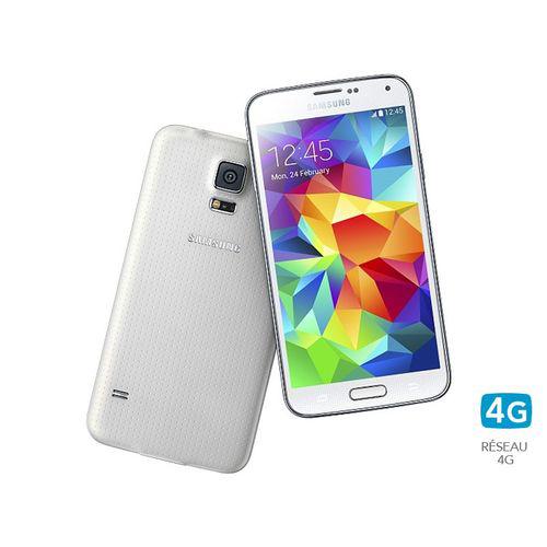 Smartphone Samsung Galaxy S5 16 Go 4G - Blanc (+ 100€ en bon d'achat)