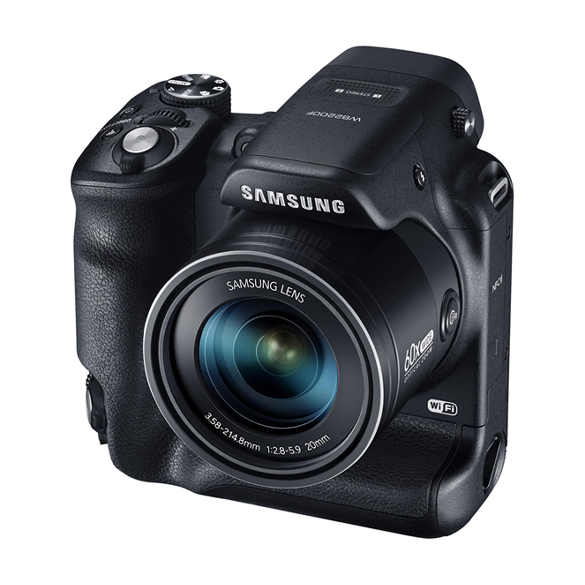 Appareil photo Bridge Samsung WB2200F - 16.4Mp - Optique x60 - Ultra Grand Angle - Wifi / NFC