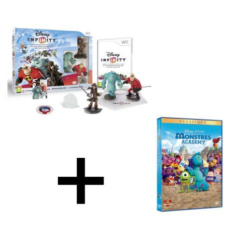 Jeu Disney Infinity Starter (Wii/3DS/Xbox) + DVD Monstres Academy