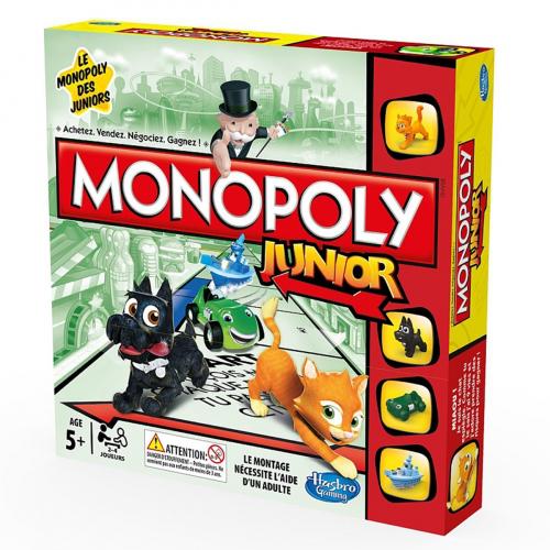 4 Jeux Hasbro - Ex : Monopoly Junior, Puissance4, Mastermind, Le petit Bac (avec ODR 50€)