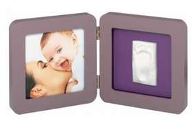 Cadre Baby Art Print 2 volets avec empreinte couleur taupe ou marron