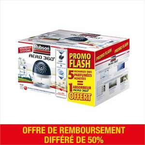 Lot de 5 recharges tablette + absorbeur d'humidité Power Tabs 3en1 Rubson (ODR 9.95€)