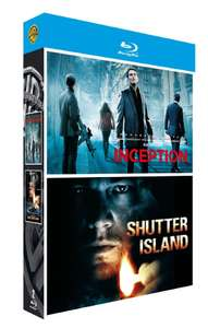 Coffret Blu-Ray Leonardo Di Caprio : Inception + Shutter Island
