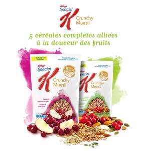 Céréales Special K Kellogg'sCrunchy (shopmium + coupon réduction)