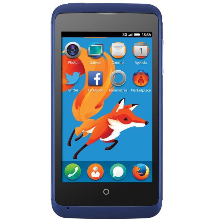 """Smartphone ZTE Open C 4"""" - Firefox OS, Bleu (avec ODR 20€)"""