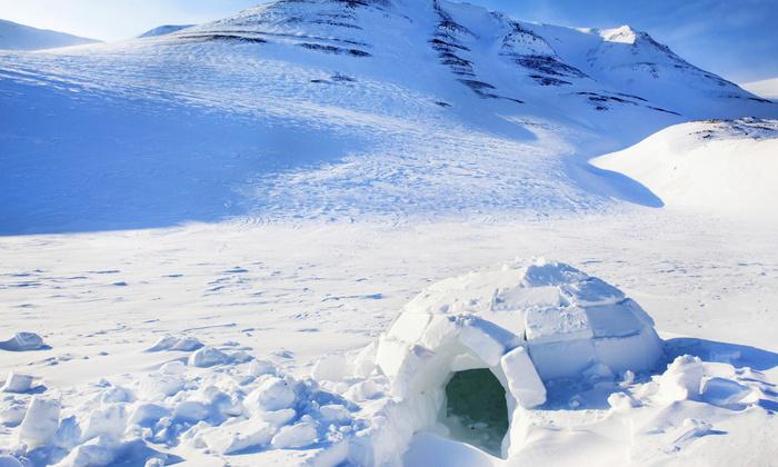 Une nuit dans un igloo pour 2 personnes avec petit dejeuner
