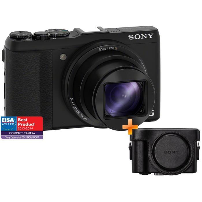 Appareil photo Sony HX50V + Etui en cuir