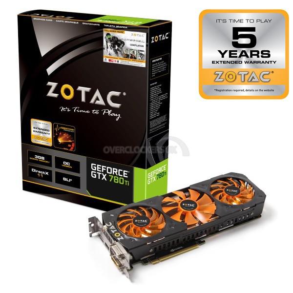 """Carte graphique Zotac GeForce GTX 780Ti OC """"GHz Edition"""" (ZT-70505-10P) + 5 ans de garantie"""