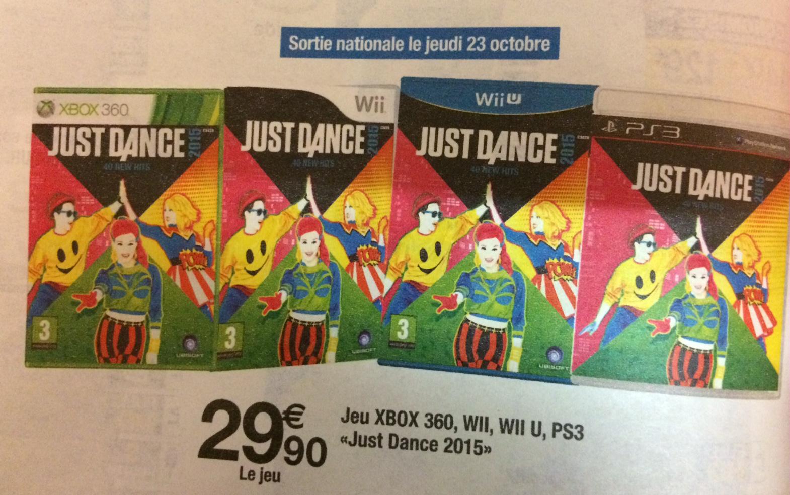 Just Dance 2015 sur Xbox 360, Wii, Wii U et PS3