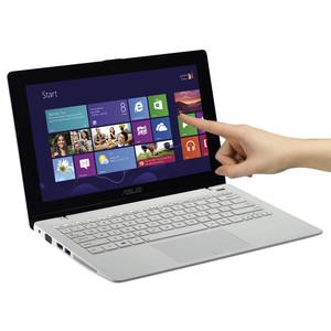 "PC portable tactile 11.6"" Asus Vivobook F200MA-CT067H - Blanc (Intel Celeron N2815, 4 Go, 500 Go)"