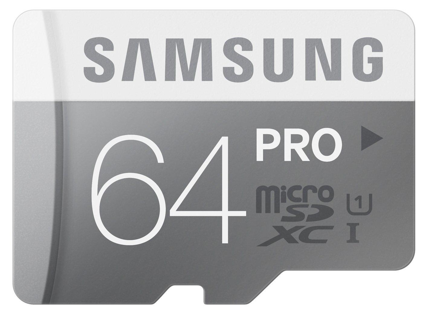 Carte mémoire Micro SDXC Samsung Pro 64Go Classe 10