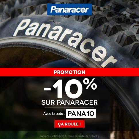 -10% sur la gamme Panaracer + sélection de produits Alpinestars en promo