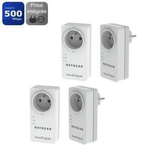 Pack de 4 Netgear CPL 500mbps  XAVB5401