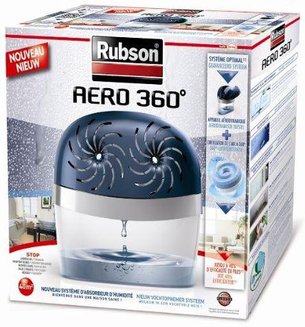 Absorbeur d'humidité Aero Rubson 360 Stop 40 m² avec 2 recharges (50% ODR)