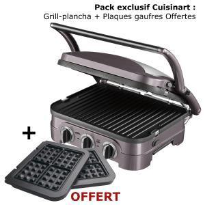 Grill plancha cuisinart GR40E + Plaques gaufres offertes