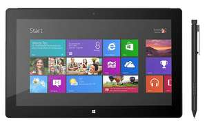 Tablette 10,6'' Microsoft Surface Pro - Full HD, Core i5-3317U (1.7 GHz), 128 Go, RAM 4 Go - Windows 8 Pro
