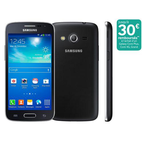 Smartphone Samsung Galaxy Core 4G noir (Avec ODR de 30€)