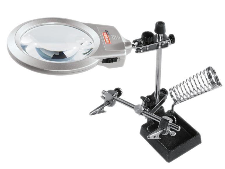 Loupe à LED Powerfix pour travaux de précision - Grossissement x2.5 et x5