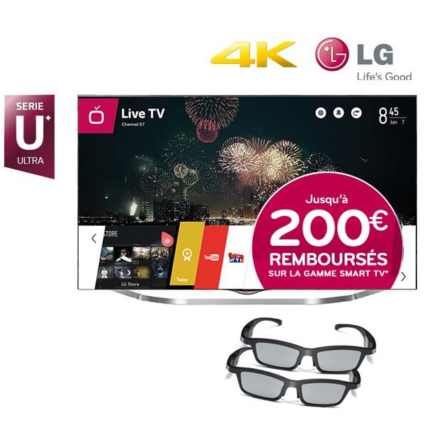 "TV 55"" LG 55UB850V 4K 3D (Avec 200€ d'ODR)"