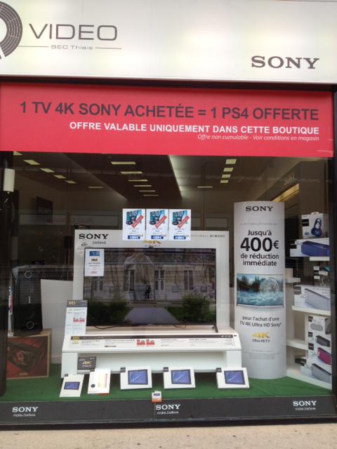 TV 4K Sony achetée = Une console PS4 offerte