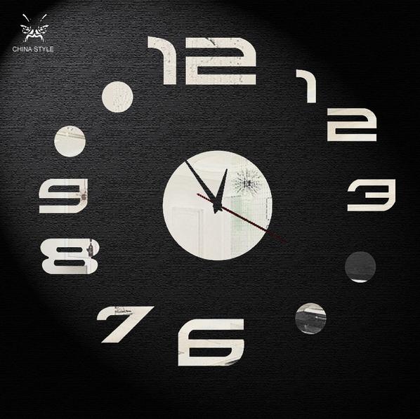 Horloge murale design - 42x46 cm (plusieurs couleurs disponibles)