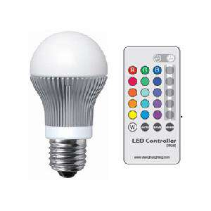 Ampoule LED RGB 9W (avec télécommande)