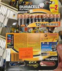 Pack 12 piles Duracell Plus Power AA LR6