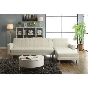 Canapé d'angle Luxury convertible/réversible blanc