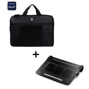 "support ventilé NotePal U3 Plus + Sacoche Liberty 15.6"" Port"