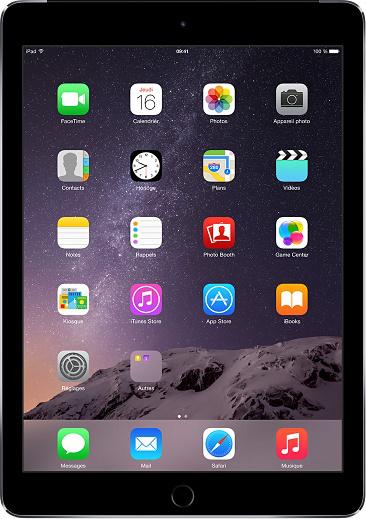 """Tablette 9.7"""" Apple iPad Air 2 16Go 4G + Forfait Let's Go 3 Go (abonnement de 12 mois inclus dans le prix)"""
